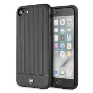 BMW iPhone SE 2020 / iPhone 8 / 7 Lederhülle Schwarz BMHCI8POCBK