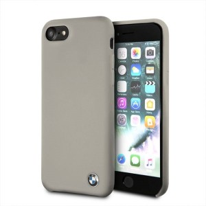 BMW Silikon Cover / Hülle BMHCI8SILTA iPhone 8 / 7 Taupe