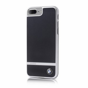 BMW Aluminium stripe BMHCP7LASBK iPhone 8 Plus / 7 Plus Schwarz