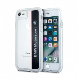 BMW SHOCKPROOF Motorsport Hülle / Cover iPhone 7 / 8 / 9 / SE2 Transparent BMHCP7SPVNA