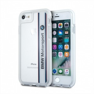 BMW SHOCKPROOF Motorsport Hülle / Cover iPhone 7 / 8 / 9 / SE2 Transparent BMHCP7SPVWH