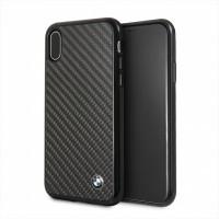 BMW Carbon Hülle / Hardcover BMHCPXMBC iPhone Xs / X Schwarz