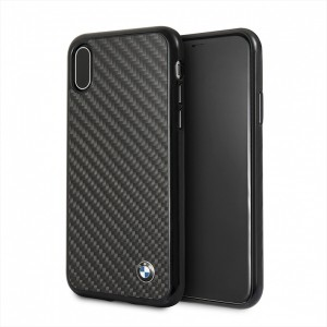 BMW Carbon Hülle / Hardcover BMHCPXMBC iPhone Xs / X Schwarz