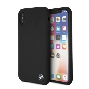 BMW Silikon Cover / Hülle iPhone Xs / X Schwarz