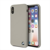 BMW Silikon Cover / Hülle BMHCPXSILTA iPhone Xs / X Taupe