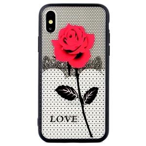 Hülle / Case Lace 3D iPhone SE 2020 / iPhone 8 / 7 rose