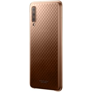 Original Samsung Gradation Cover EF-AA750CF Galaxy A7 2018 gold