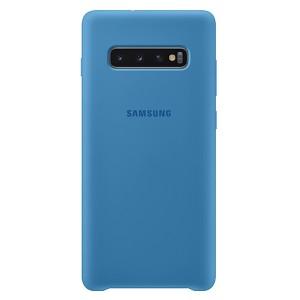 Original Samsung Silicone Cover EF-PG975TL Galaxy S10 Plus G975 blau