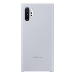 Original Samsung Silicone Cover EF-PN975TS Galaxy Note 10+ N975 silber