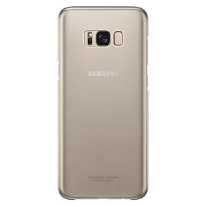 Original Samsung Clear Cover EF-QG955CF Galaxy S8 Plus G955 gold