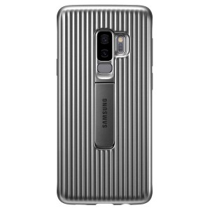 Original Samsung Protective Standing Cover EF-RG965CS Galaxy S9 Plus G965 silber