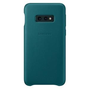 Original Samsung Leather Cover EF-VG970LG Galaxy S10e G970 grün