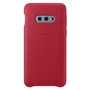 Original Samsung Leather Cover EF-VG970LR Galaxy S10e G970 rot