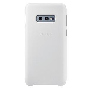 Original Samsung Leather Cover EF-VG970LW Galaxy S10e G970 weiß