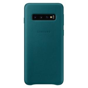 Original Samsung Leather Cover EF-VG973LG Galaxy S10 G973 grün