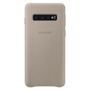 Original Samsung Leather Cover EF-VG973LJ Galaxy S10 G973 grau