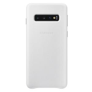 Original Samsung Leather Cover EF-VG973LW Galaxy S10 G973 weiß