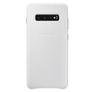 Original Samsung Leather Cover EF-VG975LW Galaxy S10 Plus G975 weiß