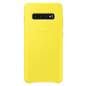 Original Samsung Leather Cover EF-VG975LY Galaxy S10 Plus G975 gelb