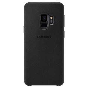 Original Samsung Alcantara Cover EF-XG960AB Galaxy S9 G960 schwarz