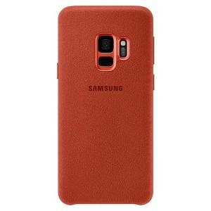 Original Samsung Alcantara Cover EF-XG960AR Galaxy S9 G960 rot