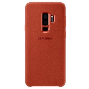 Original Samsung Alcantara Cover EF-XG965AR Galaxy S9 Plus G965 rot