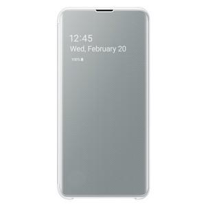 Original Samsung Clear View Cover EF-ZG970CW Galaxy S10e G970 weiß