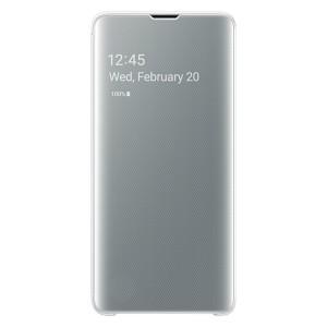 Original Samsung Clear View Cover EF-ZG973CW Galaxy S10 G973 weiß