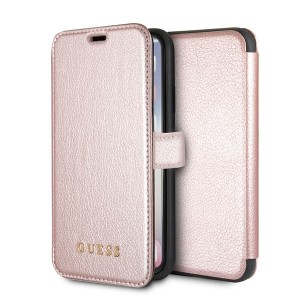 Guess Guess Iridescent Tasche GUFLBKPXIGLRG iPhone X / Xs Rose Gold