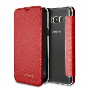 Guess IriDescent Tasche GUFLBKS8LIGLTRE Samsung Galaxy S8+ Plus Rot