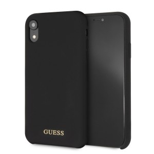 Guess Silicone Hülle GUHCI61LSGLBK iPhone Xr Schwarz