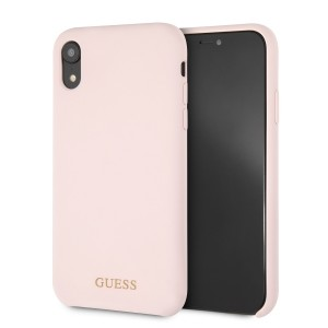 Guess Silicone Hülle GUHCI61LSGLLP iPhone Xr Rose