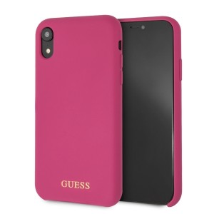 Guess Silicone Hülle GUHCI61LSGLPI iPhone Xr pink