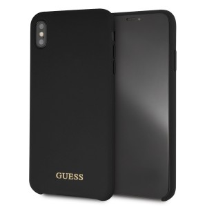 Guess Silicone Hülle GUHCI65LSGLBK iPhone Xs Max Schwarz