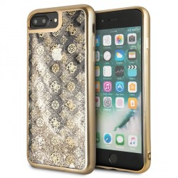 Guess 4G Peony Liquid Glitter Hülle GUHCI8LPEOLGGO iPhone 8 Plus / 7 Plus gold