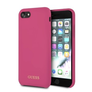 Guess Silicone Hülle GUHCI8LSGLPI iPhone 8 / 7 pink