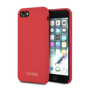 Guess Silicone Hülle GUHCI8LSGLRE iPhone 8 / 7 Rot