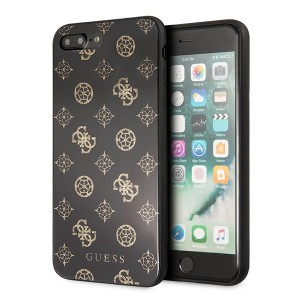 Guess Hülle Peony G Double Layer Glitter GUHCI8LTGGPBK iPhone 8 Plus / 7 Plus Schwarz / Gold