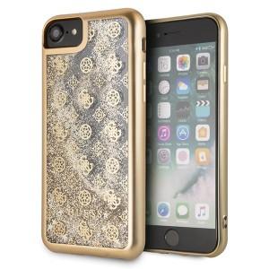 Guess 4G Peony Liquid Glitter Hülle GUHCI8PEOLGGO iPhone 8 / 7 gold