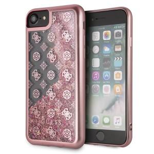Guess 4G Peony Liquid Glitter Hülle GUHCI8PEOLGPI iPhone 8 / 7 Pink / gold
