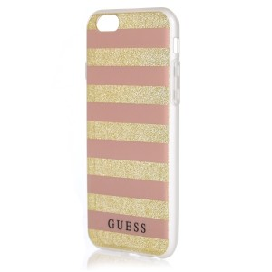 Guess Ethnic Chic Stripes 3D Hülle GUHCP6STGPI iPhone 6s / 6 Pink