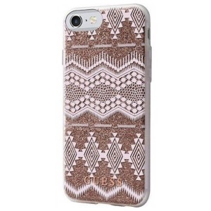 Guess iPhone SE 2020 / iPhone 8 / 7 Aztec Tribal 3D Hülle Gold GUHCP7TGTA