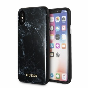 Guess Marble Hülle GUHCPXHYMABK iPhone X / Xs schwarz