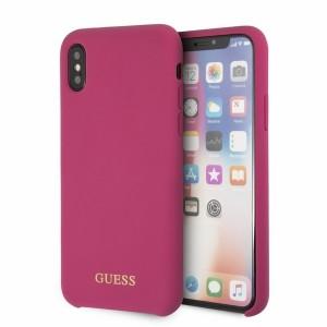 Guess Silikon Hülle GUHCPXLSGLPI iPhone X / Xs Pink