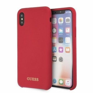 Guess Silikon Hülle GUHCPXLSGLRE iPhone X / Xs Rot