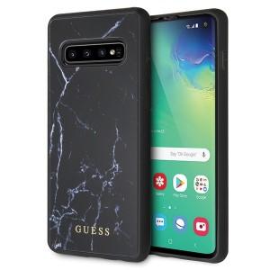 Guess Marble Hülle GUHCS10HYMABK Samsung Galaxy S10 Schwarz