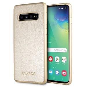 Guess Iridescent Hülle GUHCS10IGLGO S10 G973 Samsung Galaxy S10 Gold