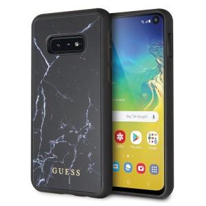 Guess Marble Hülle GUHCS10LHYMABK Samsung Galaxy S10e Schwarz