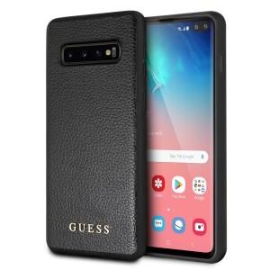 Guess Iridescent Hülle GUHCS10LIGLBK Samsung Galaxy S10e Schwarz