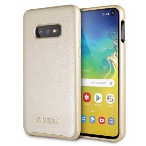 Guess Iridescent Hülle GUHCS10LIGLGO Samsung Galaxy S10e Gold